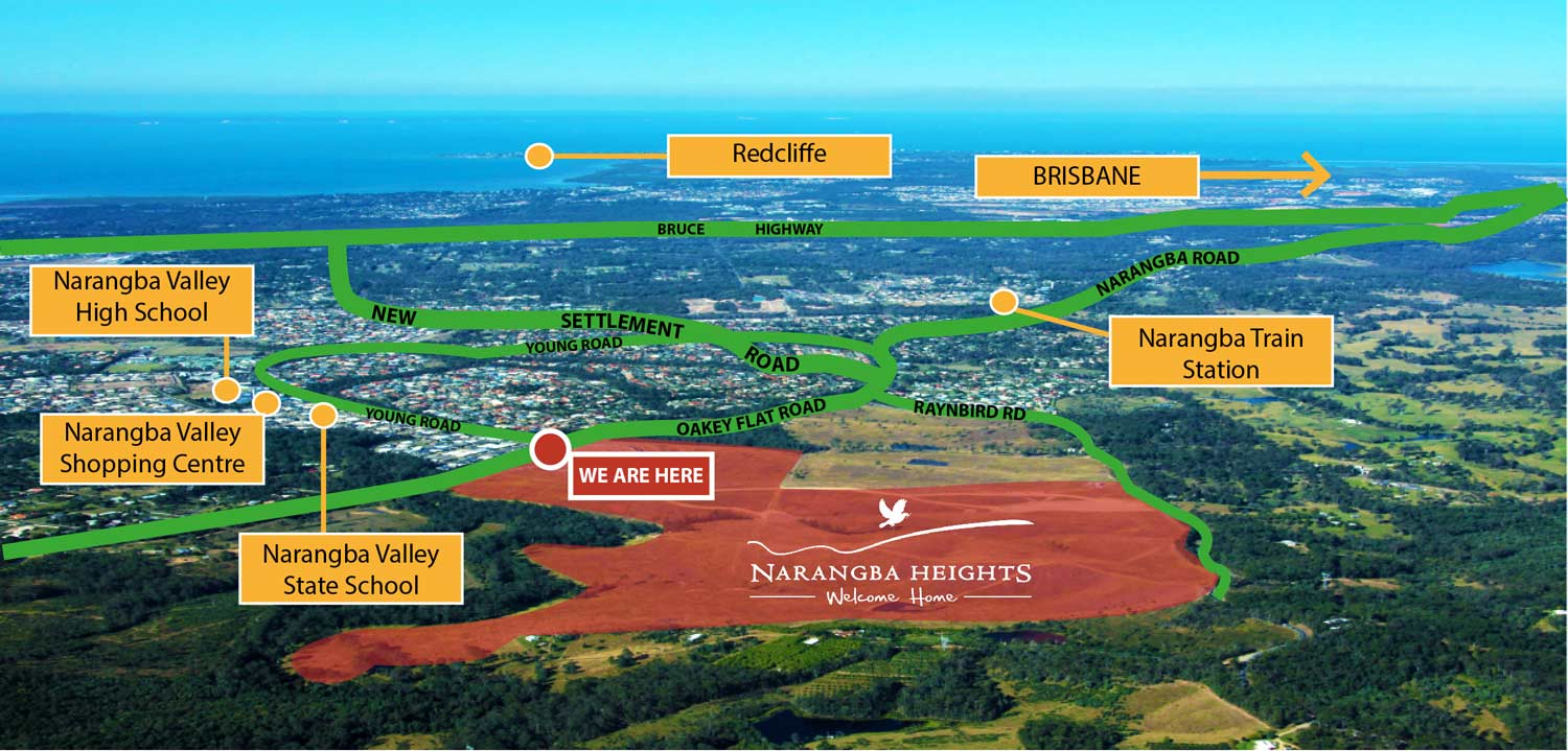 Narangba Heights Aerial View - Map